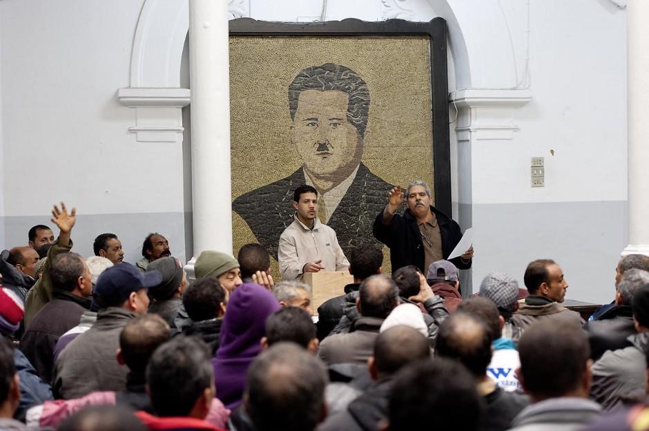 12 mars 2011 : Dans la grande salle de la Rotonde, sous l