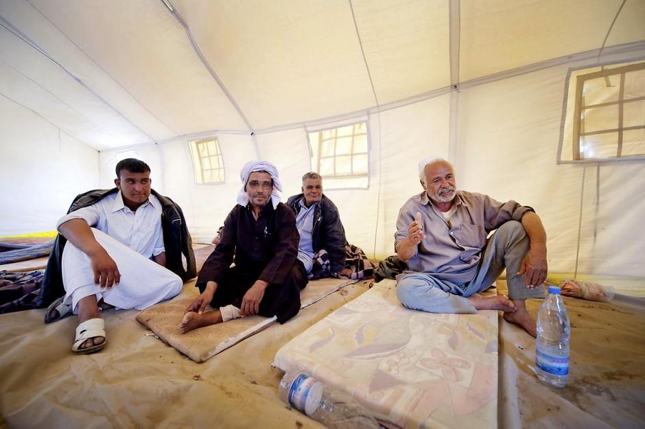 Camp de réfugiés libyens du Croissant Rouge de l