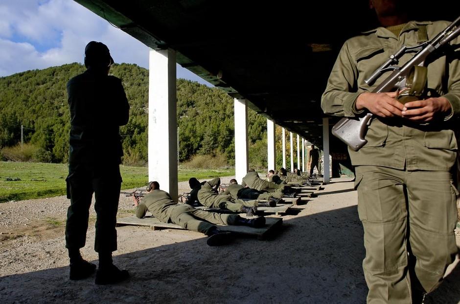Stand de tirs avec les éléves officiers de l