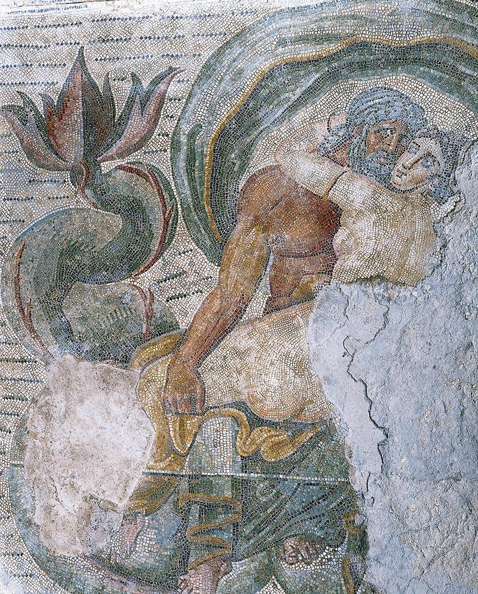 Noces de Neptune et Amymone - V siècle ap. Musée de Carthage