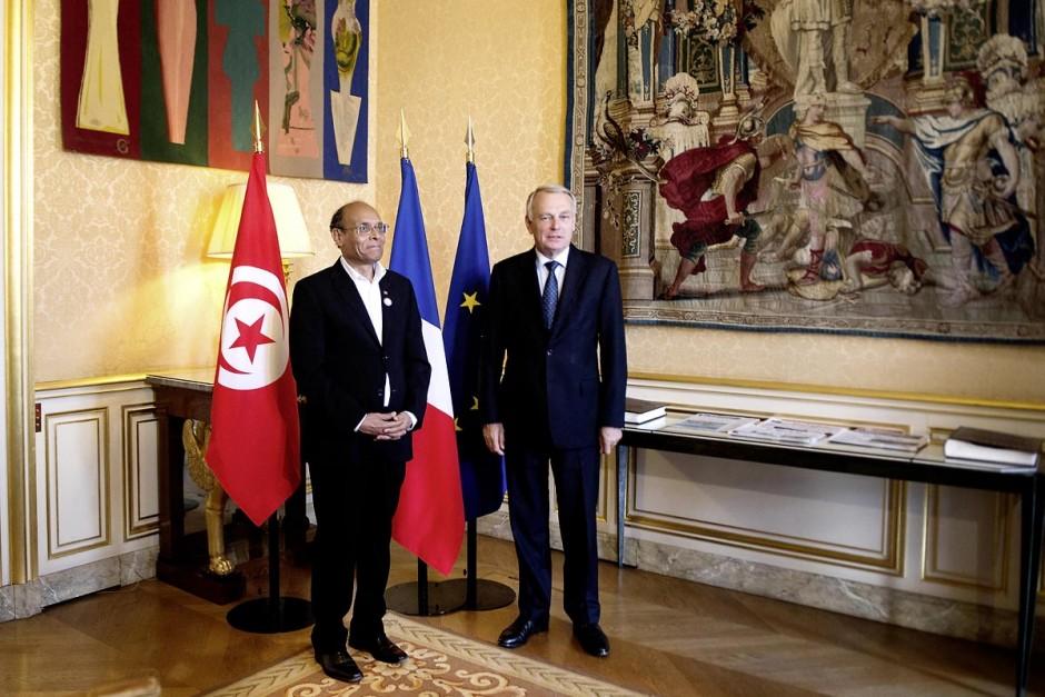 18 juillet : Le président Marzouki est reçu à Matignon par Jean-Marc Ayrault, premier ministre, pour une entrevue au 2éme jour de la visite officielle de Moncef Marzouki, Président de la Républiqye tunisienne à Paris et Marseille