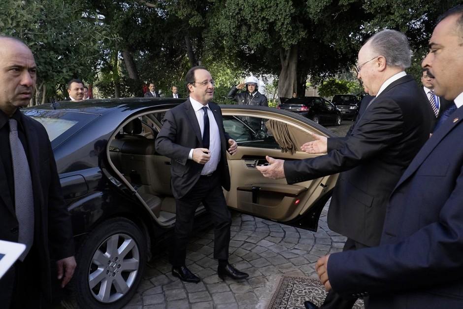 7 février 2014 : Arrivée de François Hollande à l