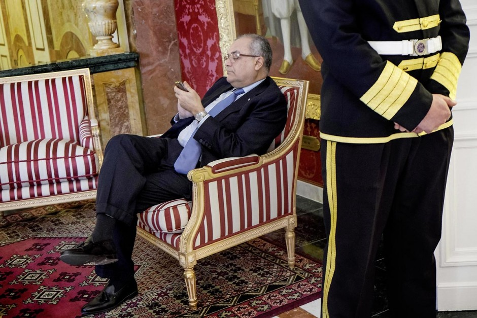 6 février 2015 : Le professeur Rafaâ Ben Achour, conseiller auprès du président de la République chargé des activités présidentielles. Deux jours après le vote de confiance du nouveau gouvernement de Habib Essid à l