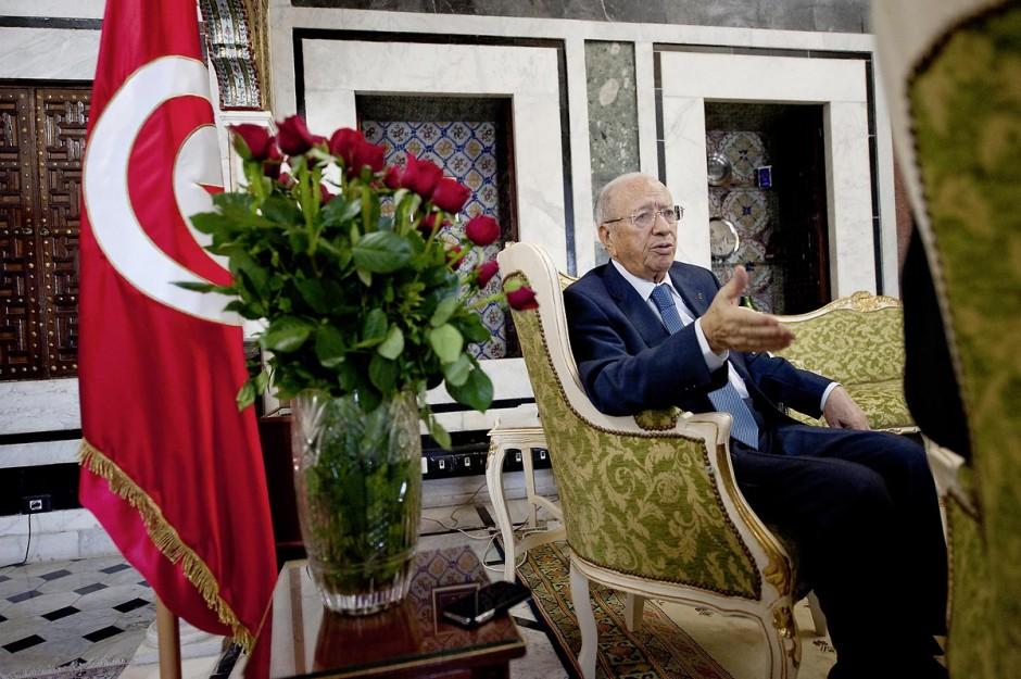 Interview le 23 mars 2011 de M. Béji Caïd ESSEBSI, premier ministre tunisien du gouvernement de transition avec Marouane