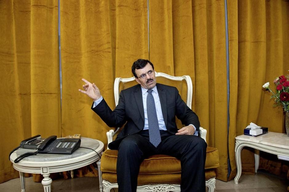 dans le bureau de Ali Larayedh, ministre de l